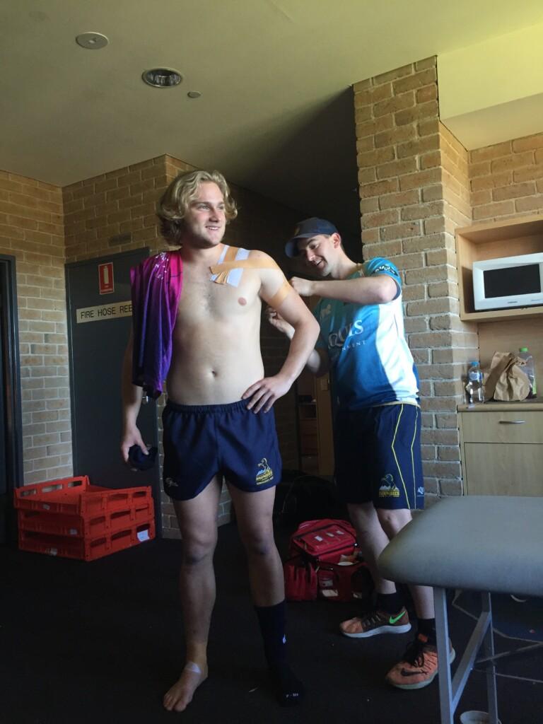 Shoulder taping ACT Brumbies School boys